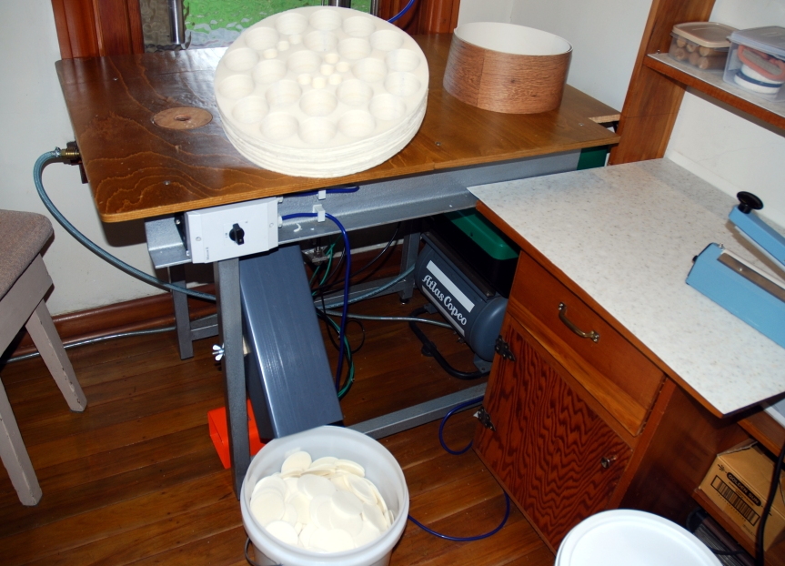 The machine that makes the bread used in Holy Communion, taken by Sister Cushla