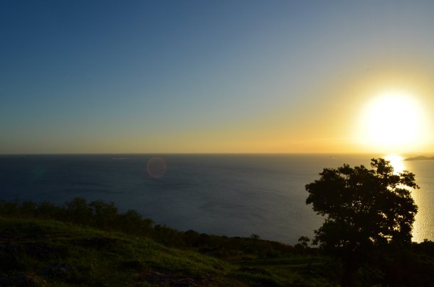 The view from Fort Tereka near Kuendu Bay