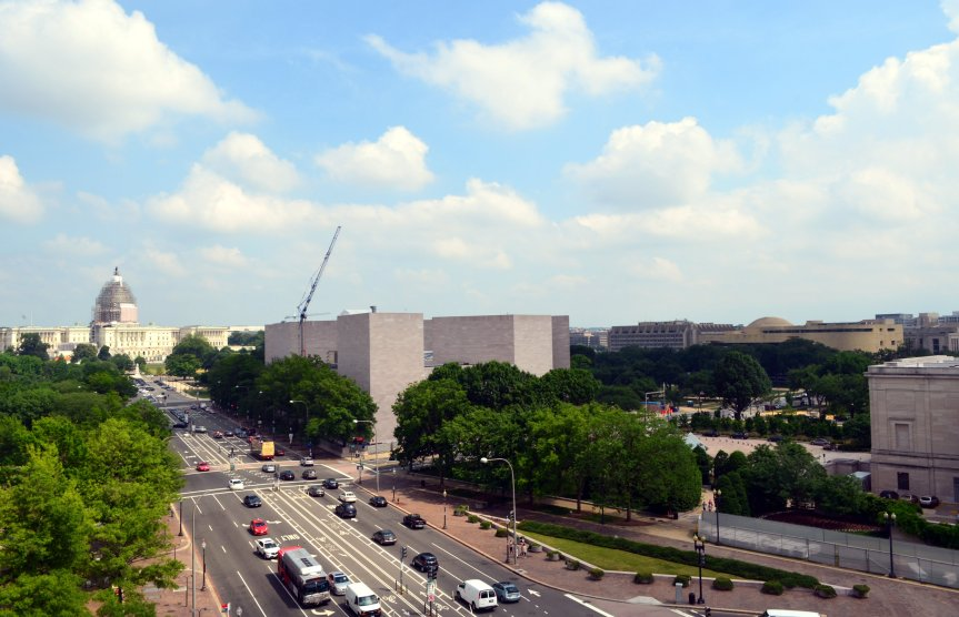 View from the Newseum