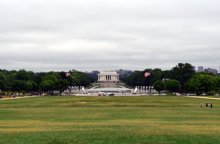 Looking down the National Mall from Washington Monument