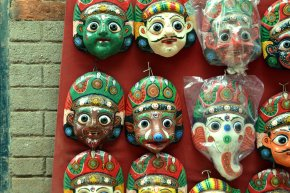 The colourful streets ofKathmandu